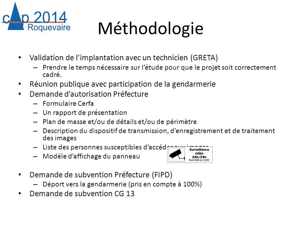 Méthodologie Validation de l'implantation avec un technicien (GRETA)