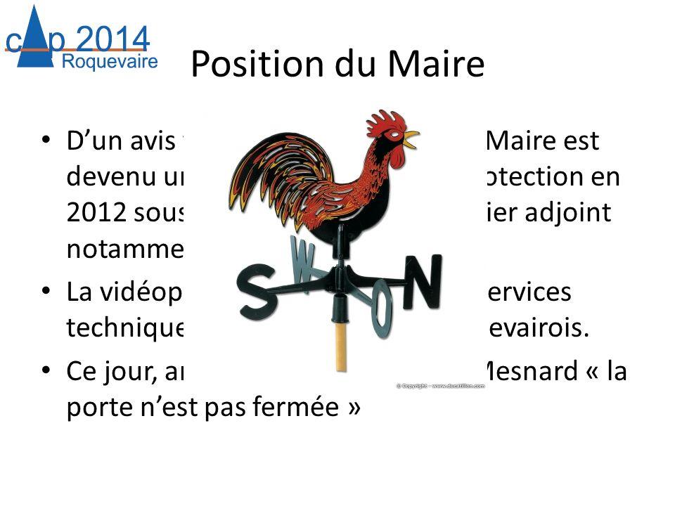 Position du Maire