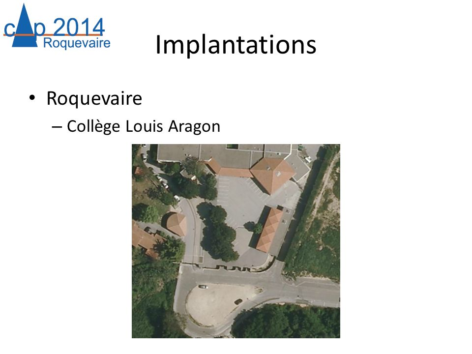 Implantations Roquevaire Collège Louis Aragon