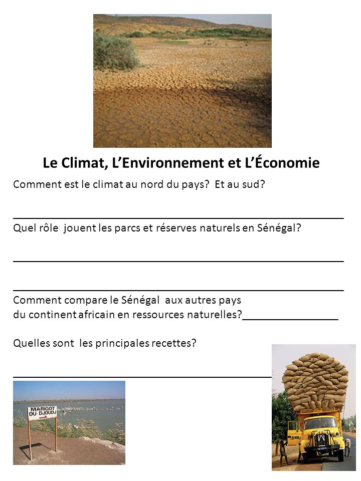 Le Climat, L'Environnement et L'Économie
