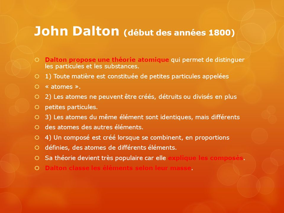 John Dalton (début des années 1800)