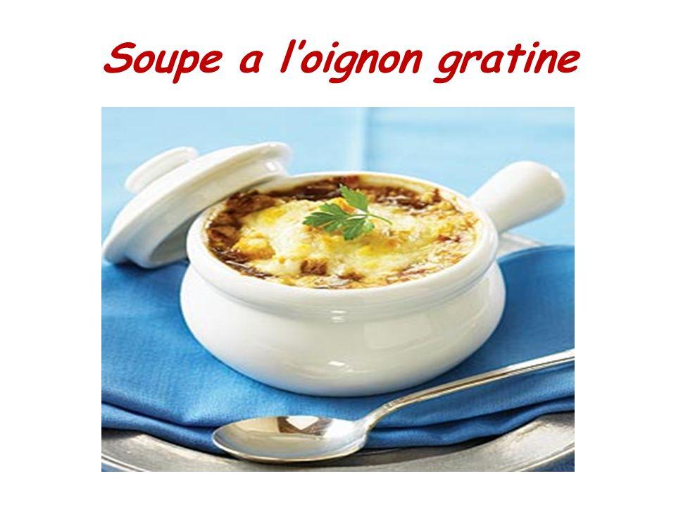Soupe a l'oignon gratine