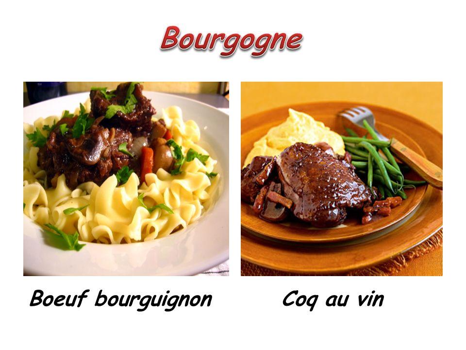 Bourgogne Boeuf bourguignon Coq au vin
