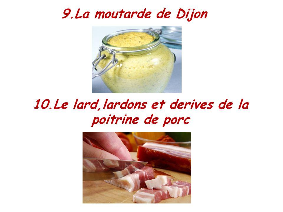 10.Le lard,lardons et derives de la poitrine de porc
