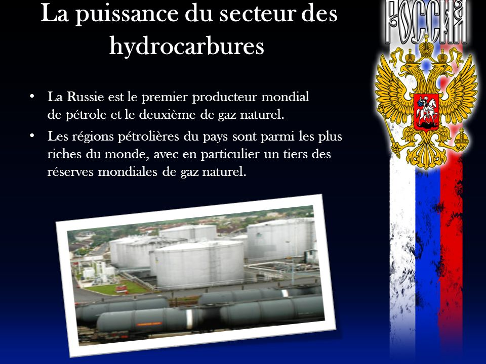 La puissance du secteur des hydrocarbures