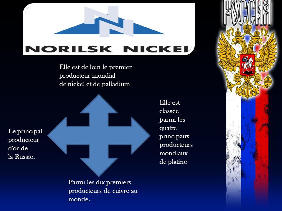 Elle est de loin le premier producteur mondial de nickel et de palladium