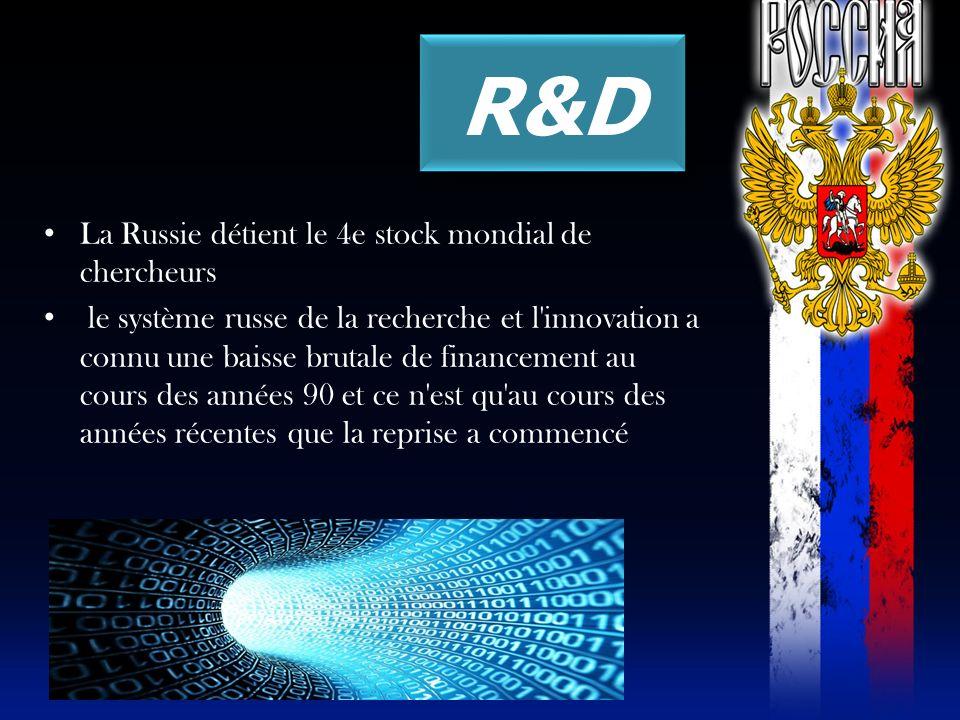 R&D La Russie détient le 4e stock mondial de chercheurs