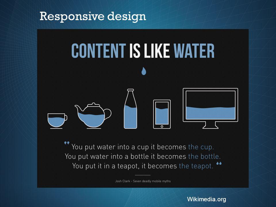 Responsive design Wikimedia.org