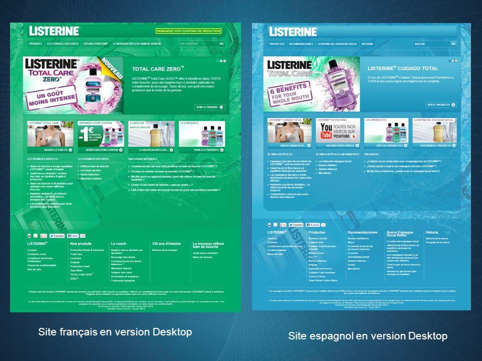 Site français en version Desktop