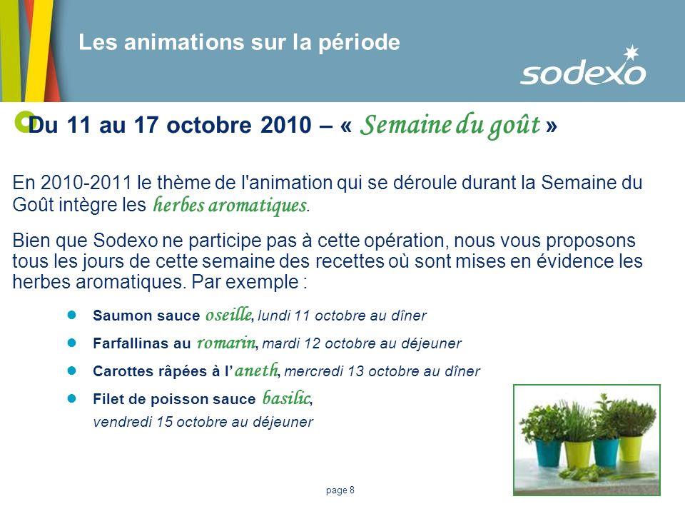 Du 11 au 17 octobre 2010 – « Semaine du goût »