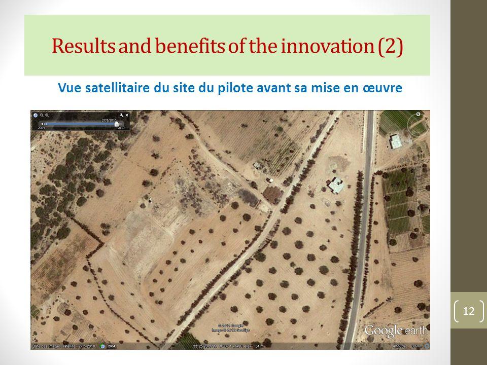 Vue satellitaire du site du pilote avant sa mise en œuvre