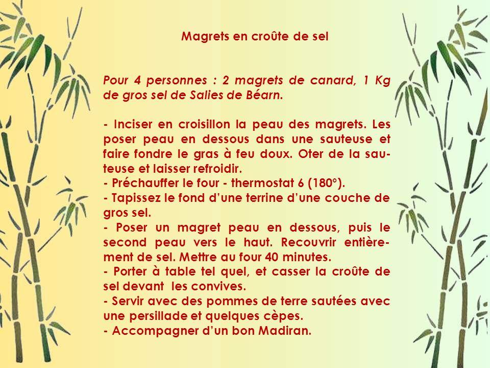Magrets en croûte de sel