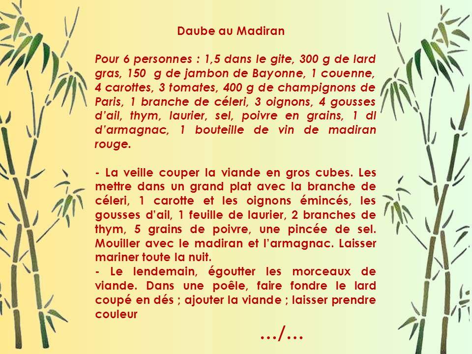 Daube au Madiran