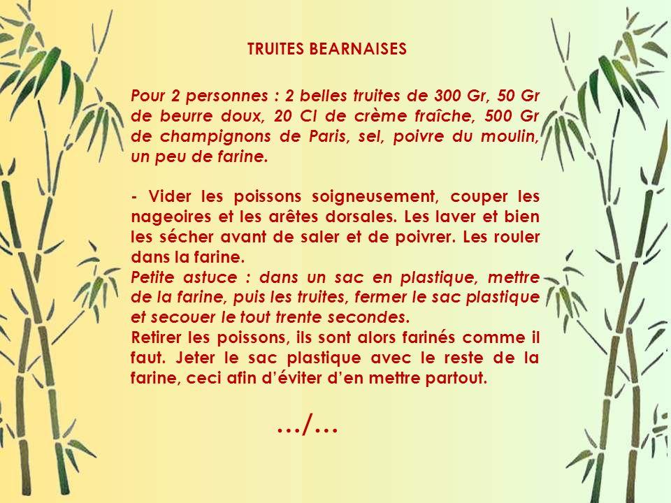 TRUITES BEARNAISES