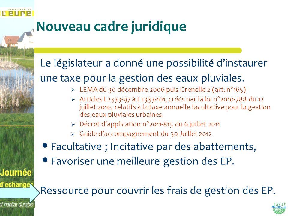 Nouveau cadre juridique