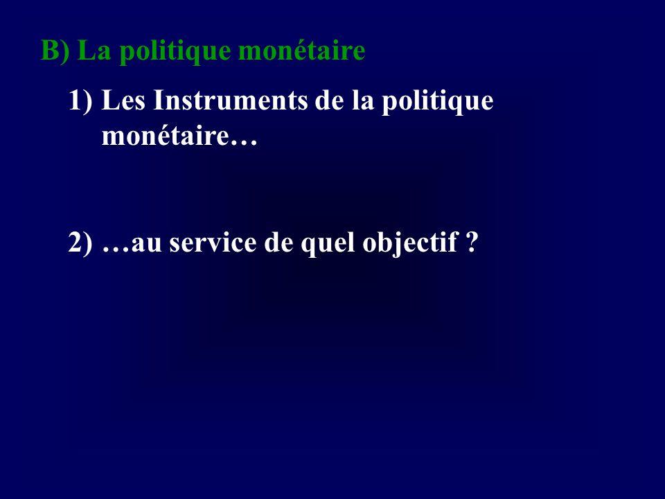 B) La politique monétaire