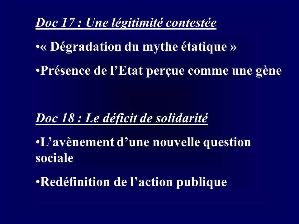 Doc 17 : Une légitimité contestée