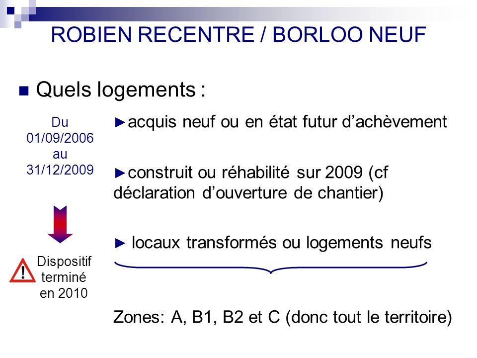 ROBIEN RECENTRE / BORLOO NEUF
