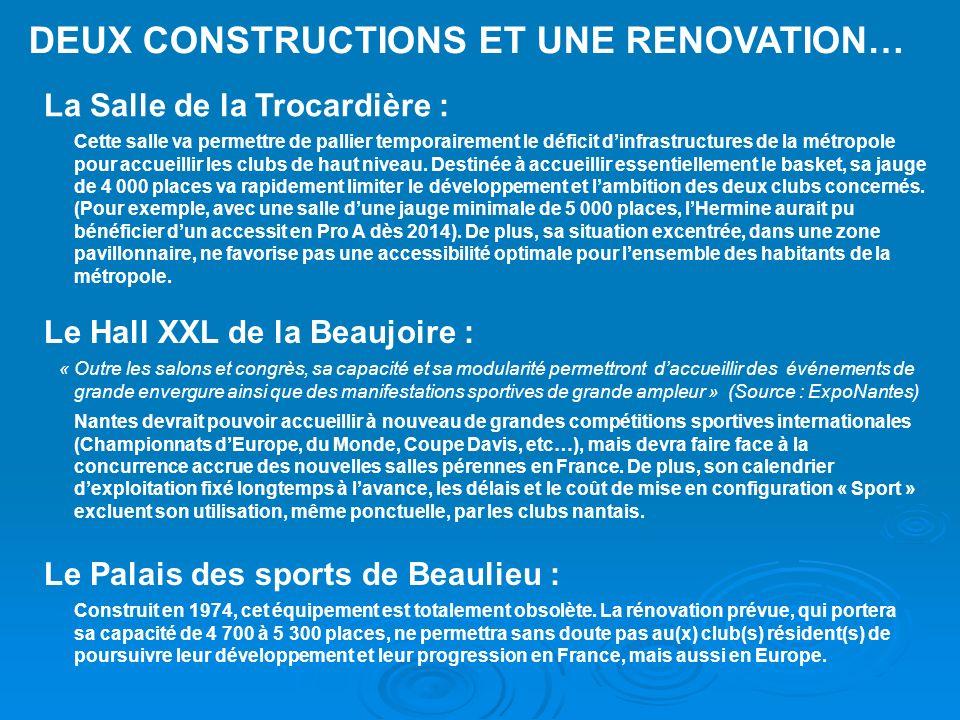 DEUX CONSTRUCTIONS ET UNE RENOVATION…