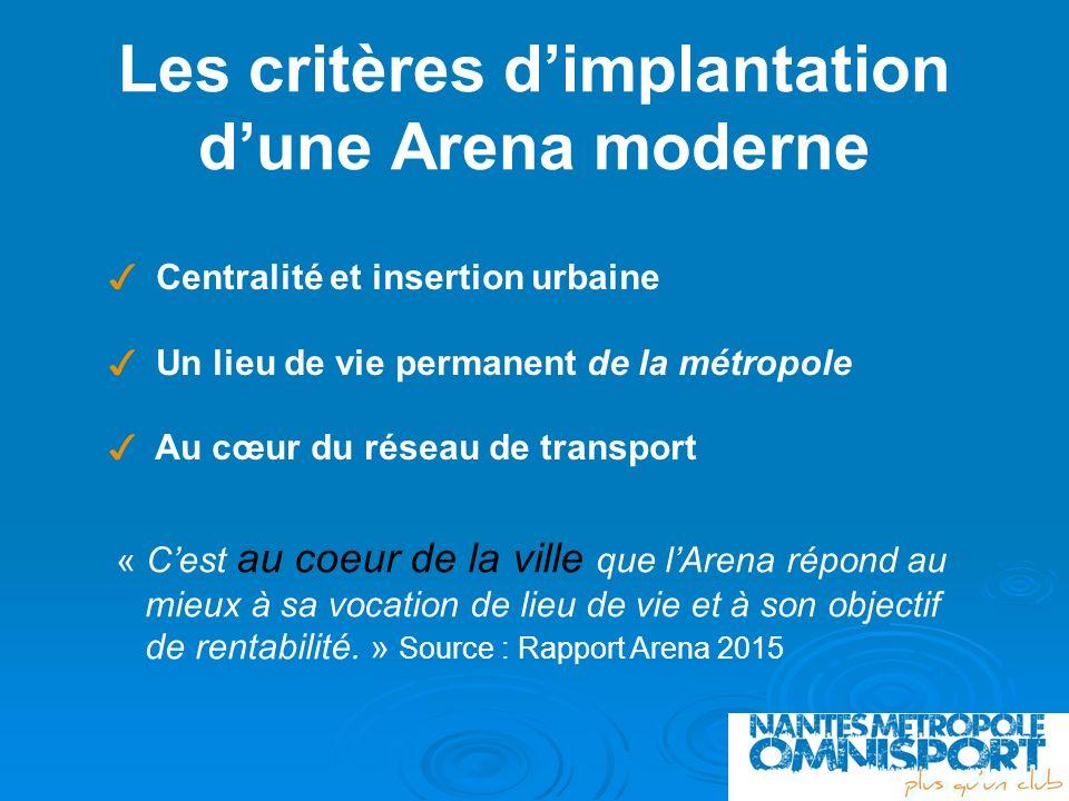 Les critères d'implantation d'une Arena moderne