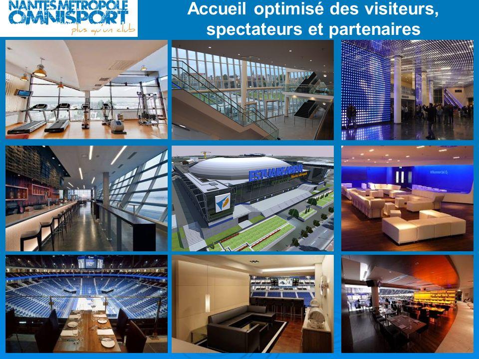 Accueil optimisé des visiteurs, spectateurs et partenaires