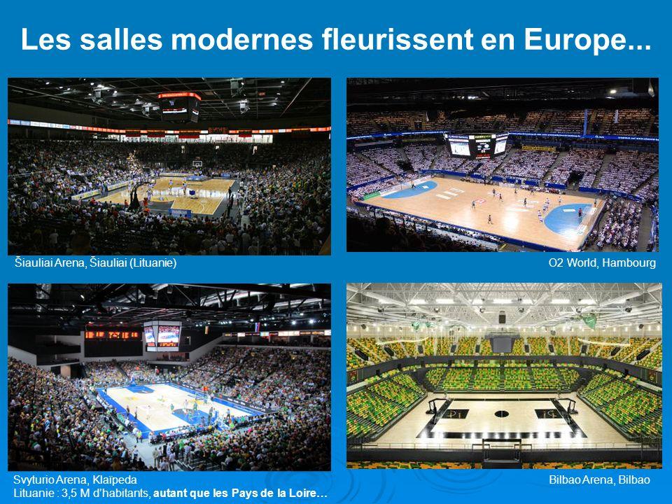 Les salles modernes fleurissent en Europe...