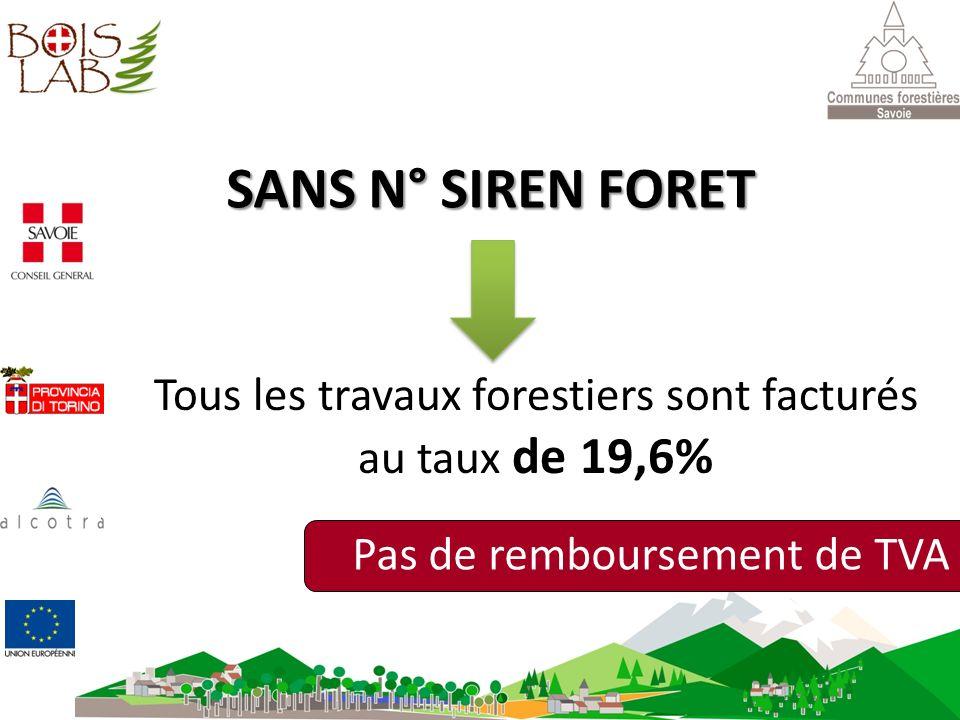 Tous les travaux forestiers sont facturés au taux de 19,6%