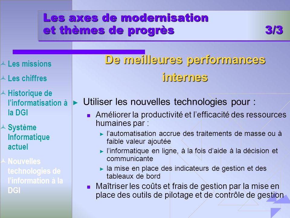 Les axes de modernisation et thèmes de progrès 3/3