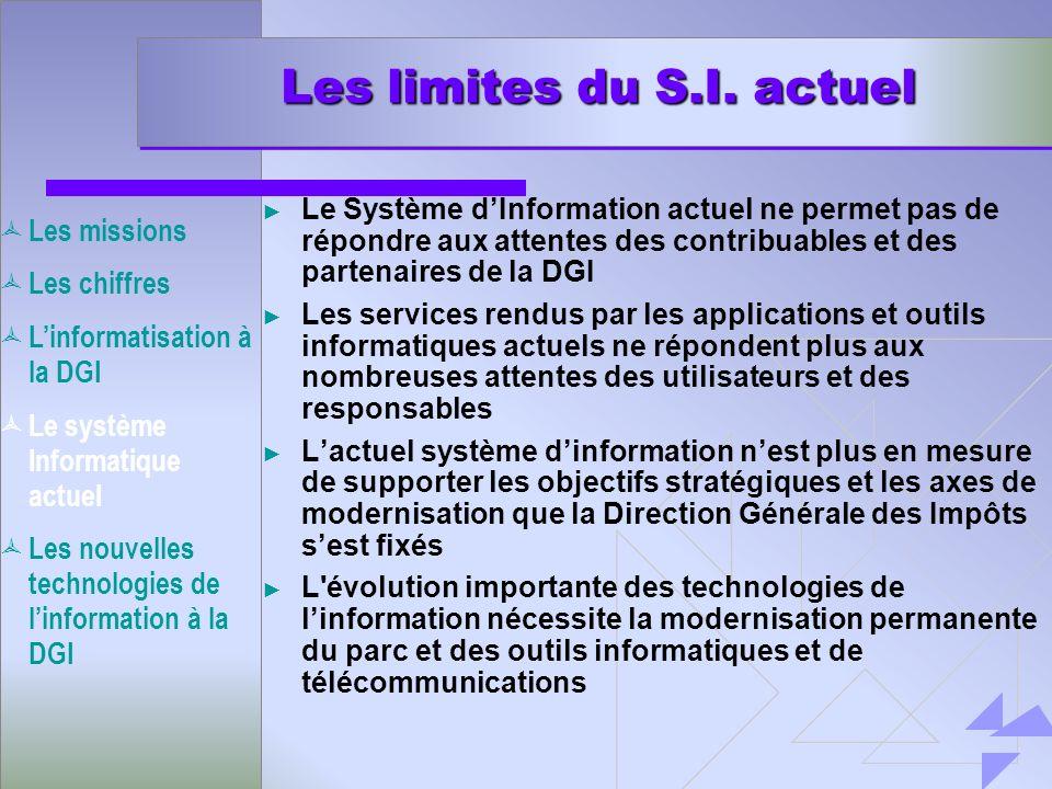 Les limites du S.I. actuel