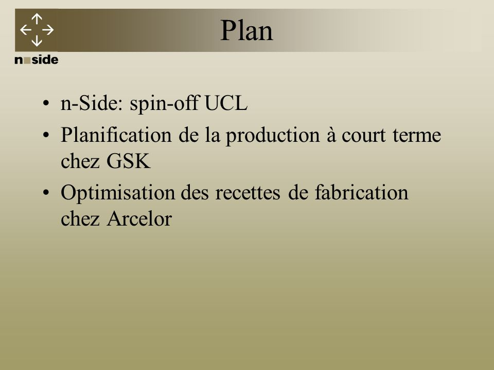 Plan n-Side: spin-off UCL