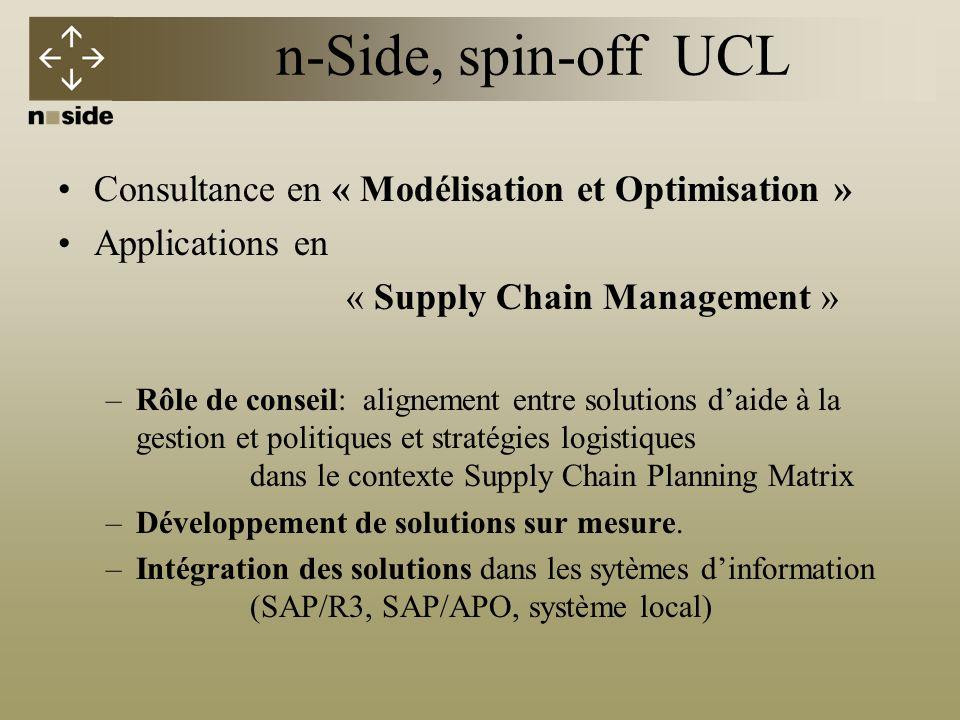 n-Side, spin-off UCL Consultance en « Modélisation et Optimisation »