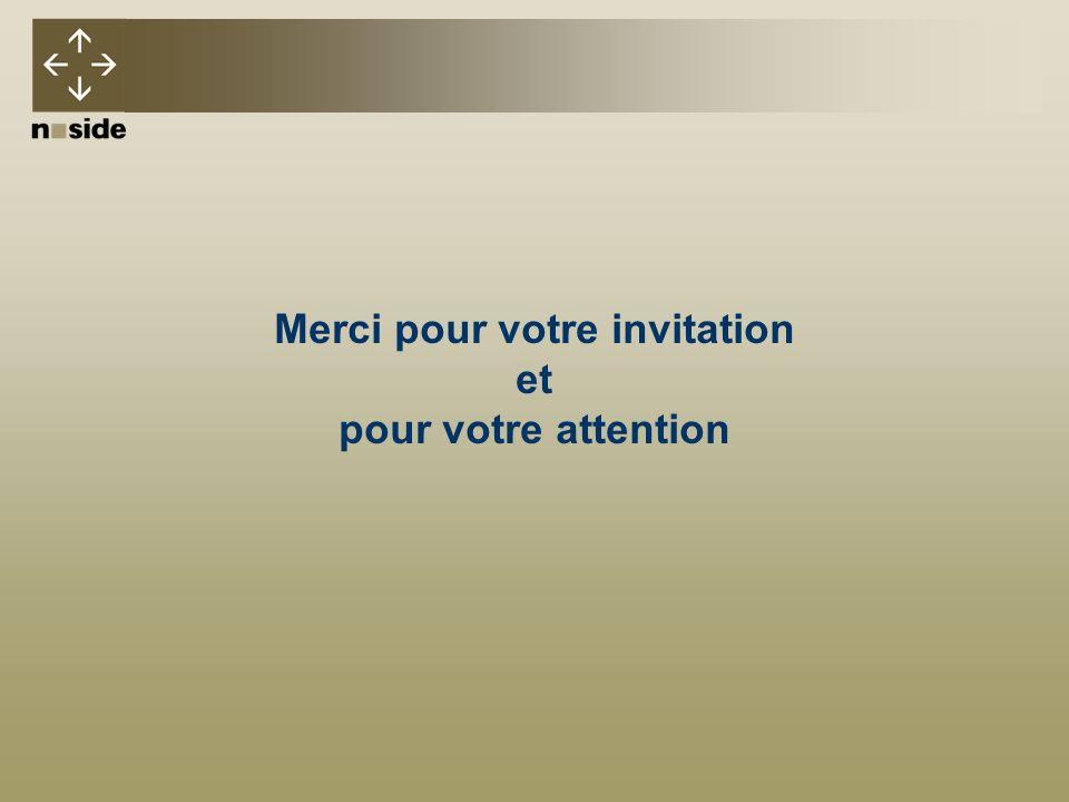 Merci pour votre invitation