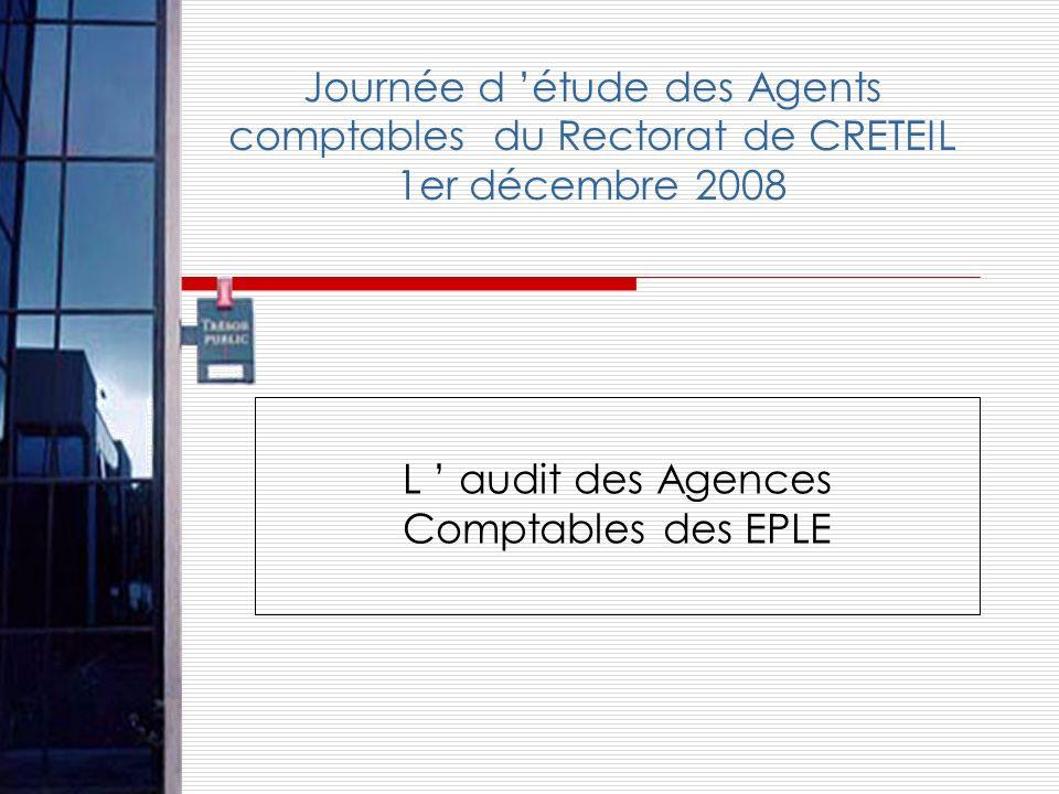 L ' audit des Agences Comptables des EPLE