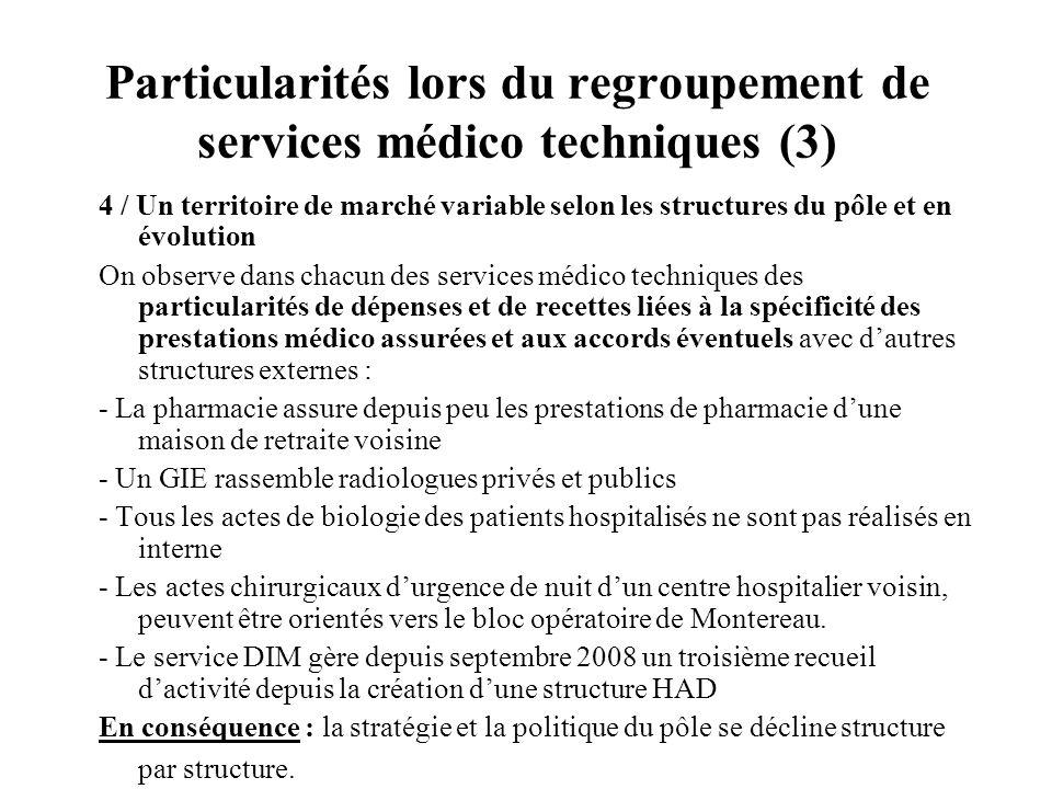 Particularités lors du regroupement de services médico techniques (3)