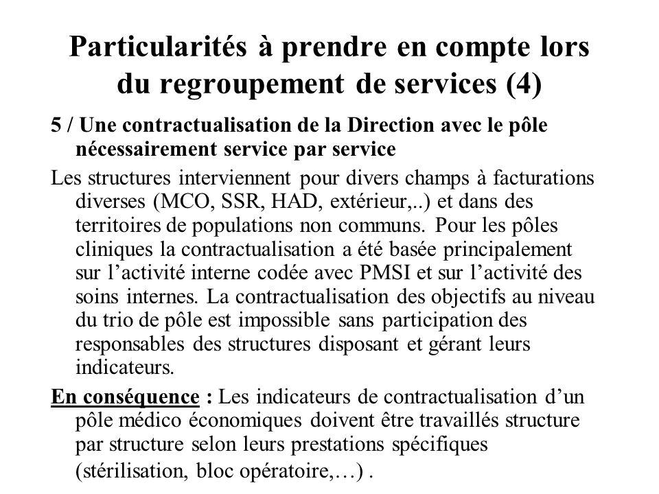 Particularités à prendre en compte lors du regroupement de services (4)