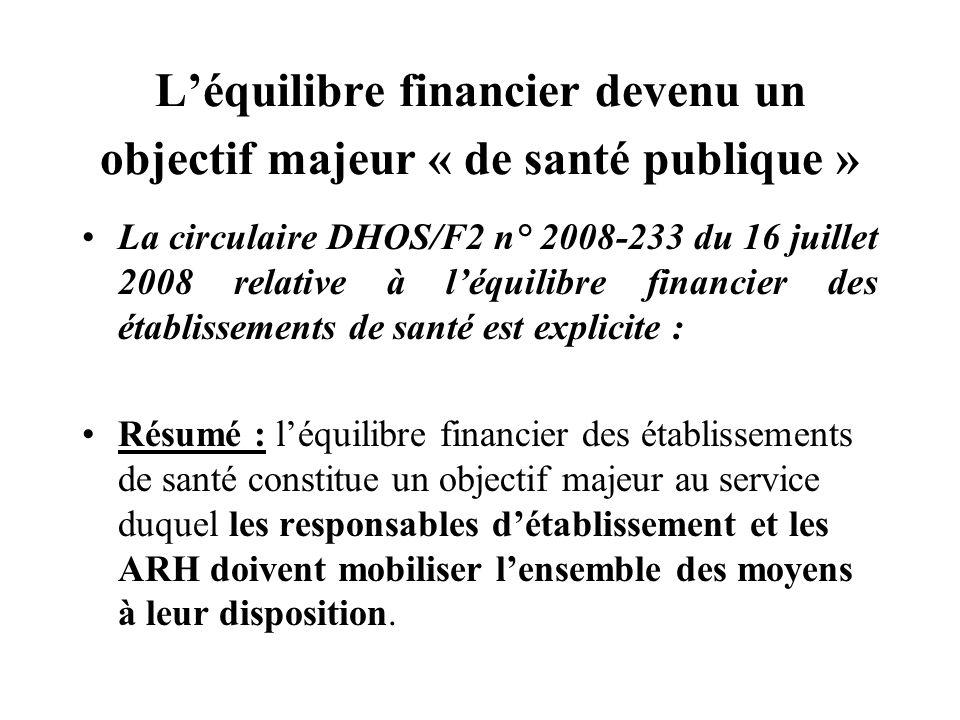 L'équilibre financier devenu un objectif majeur « de santé publique »