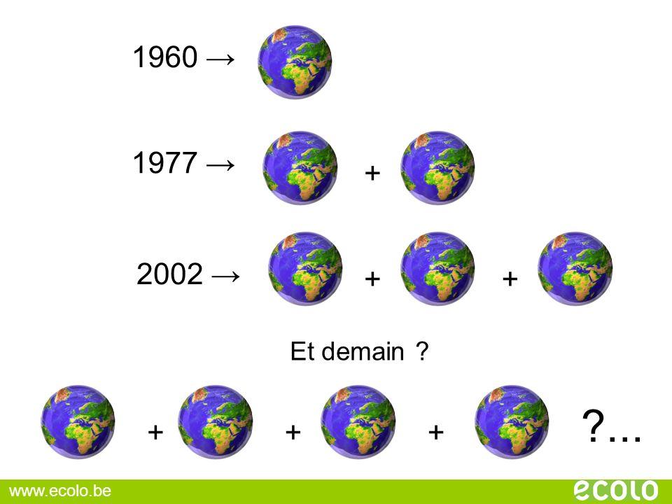 1960 → 1977 → + 2002 → + + Et demain ... + + + www.ecolo.be