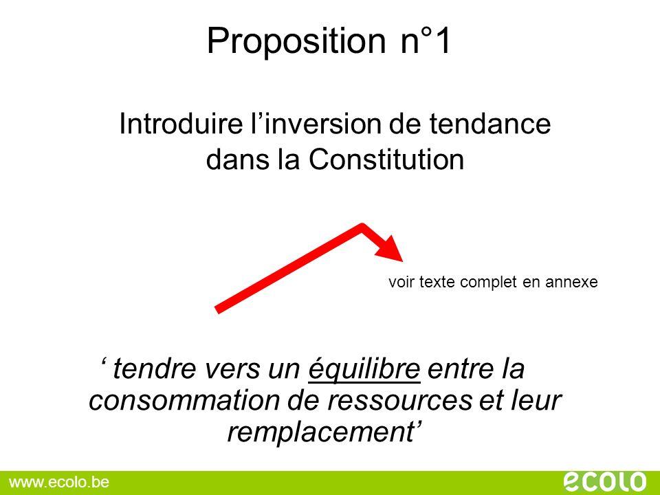 Introduire l'inversion de tendance dans la Constitution