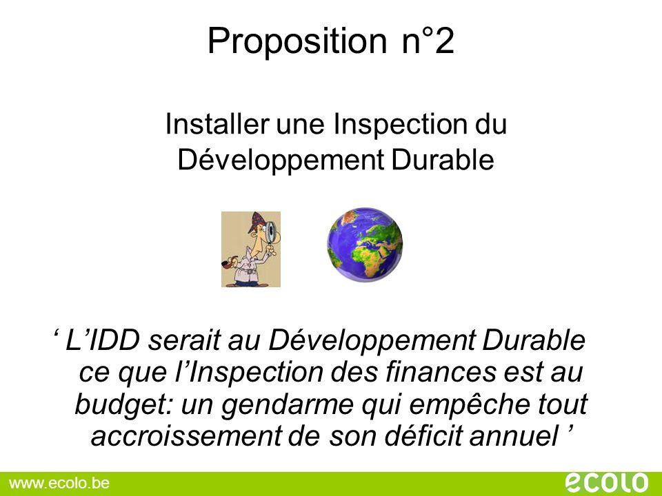 Installer une Inspection du Développement Durable