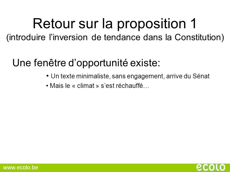 Retour sur la proposition 1 (introduire l'inversion de tendance dans la Constitution)