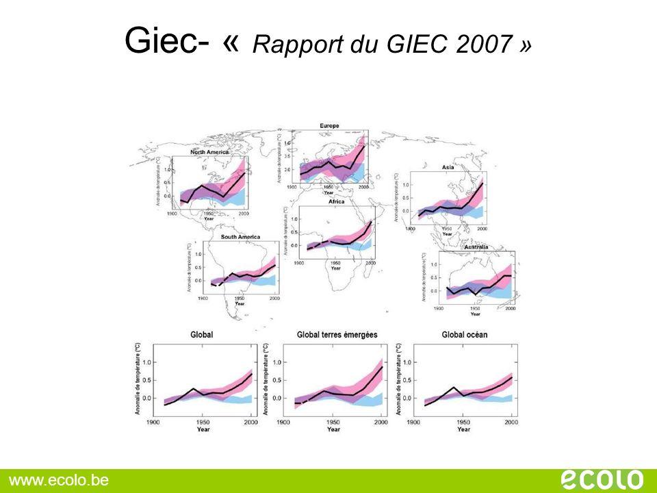 Giec- « Rapport du GIEC 2007 »