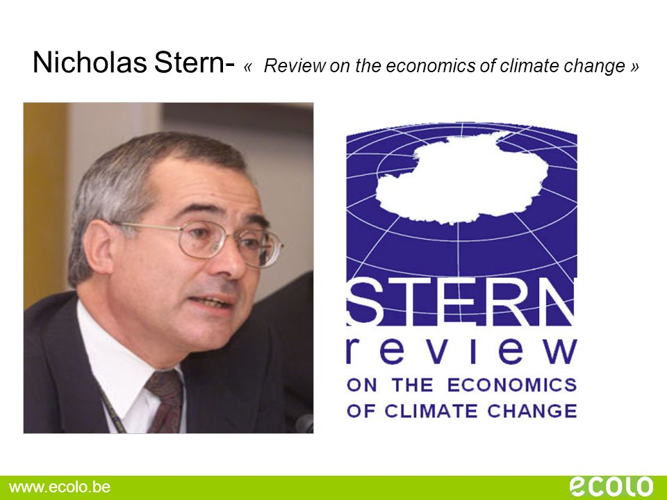 Nicholas Stern- « Review on the economics of climate change »