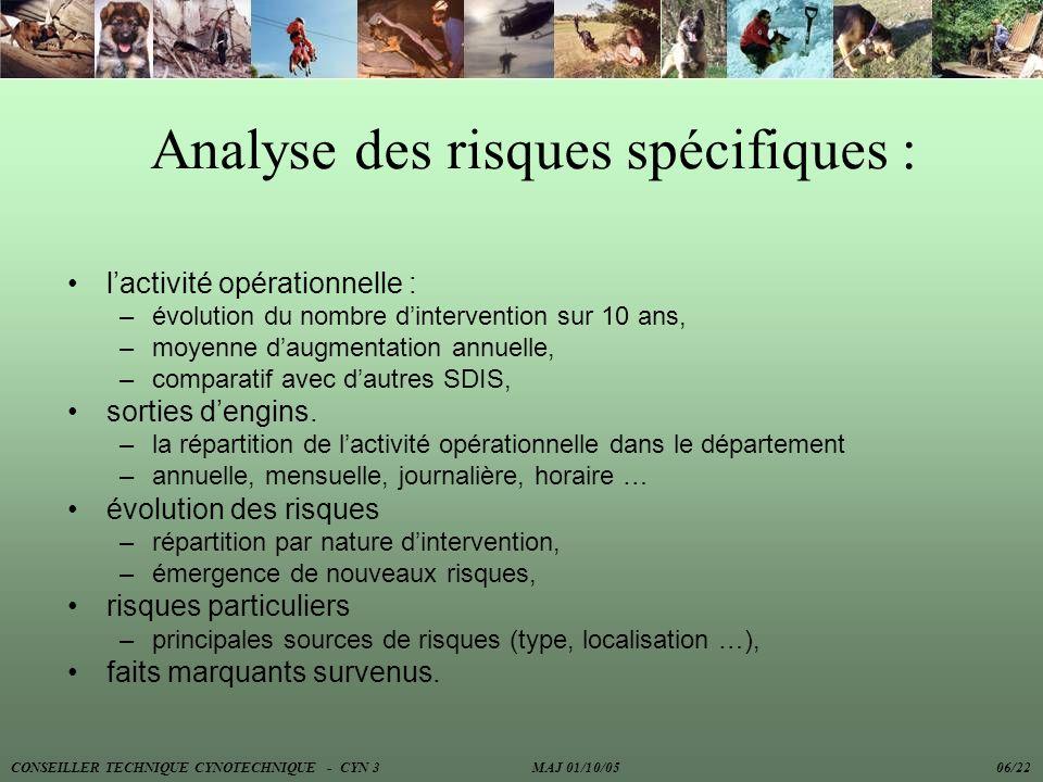 Analyse des risques spécifiques :