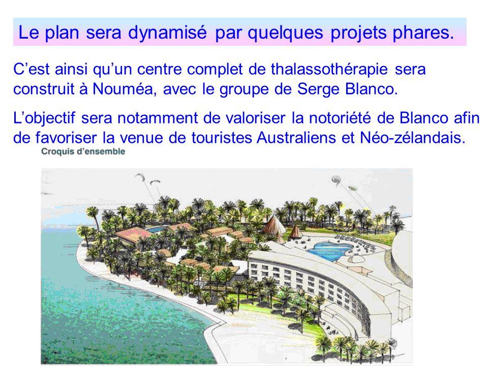 Le plan sera dynamisé par quelques projets phares.