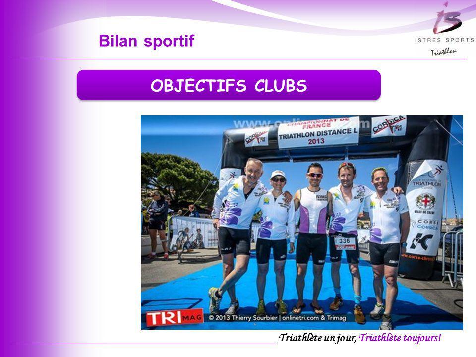 Bilan sportif OBJECTIFS CLUBS