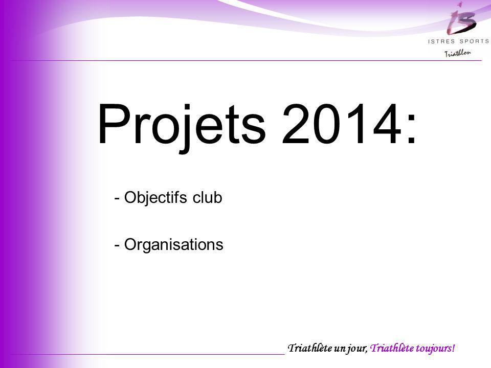 Projets 2014: - Objectifs club - Organisations