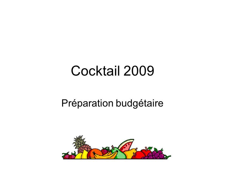 Préparation budgétaire