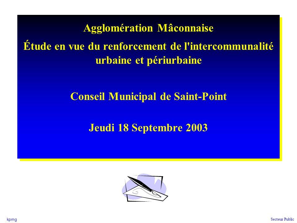 Agglomération Mâconnaise Conseil Municipal de Saint-Point