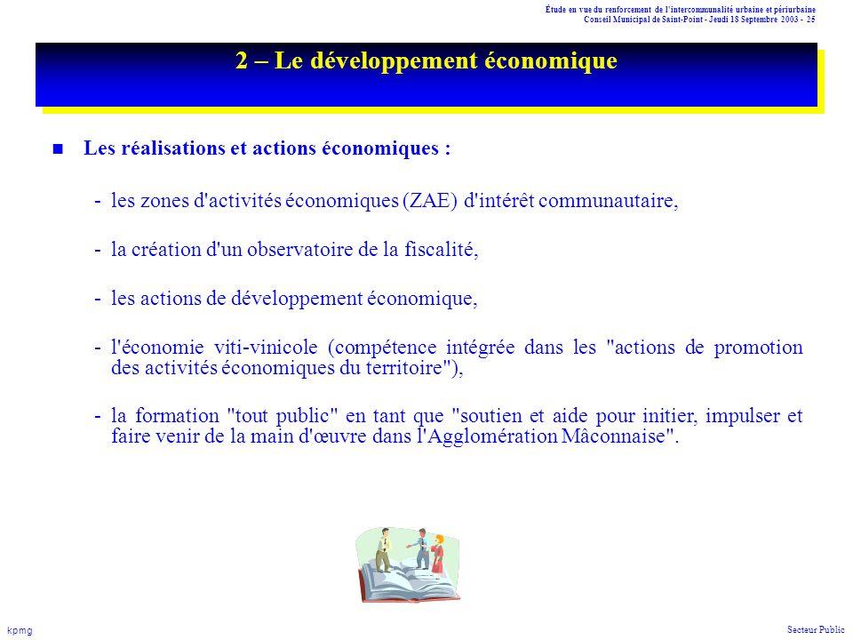 2 – Le développement économique