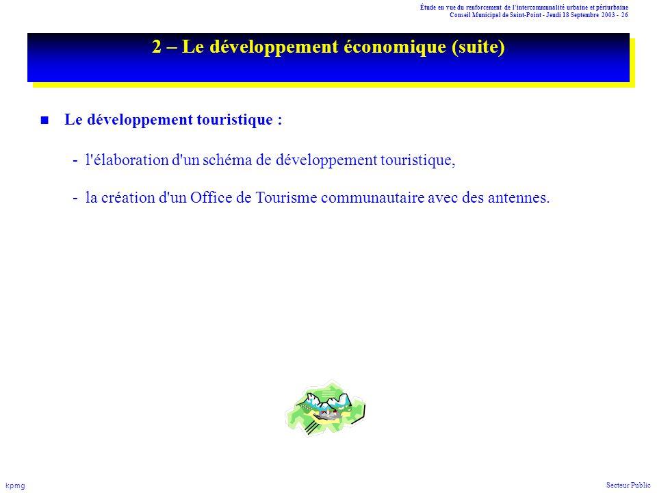 2 – Le développement économique (suite)